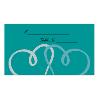 Two Hearts Wedding Placecards Pack Of Standard Business Cards