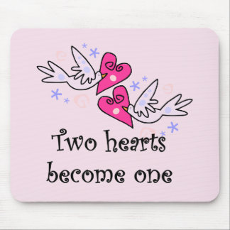 Two Hearts Wedding Tshirts and Gifts Mouse Pad