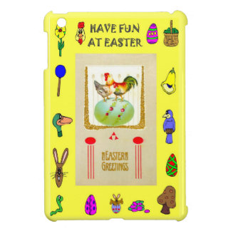 Two hens and a green egg iPad mini cases