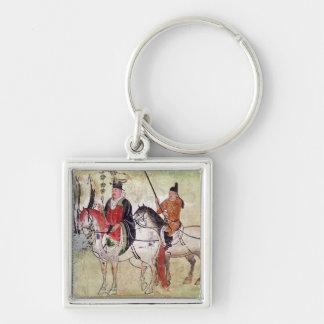 Two Horsemen in a Landscape Key Chain