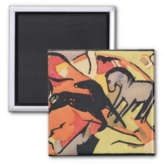 Two Horses, 1911/12 Square Magnet