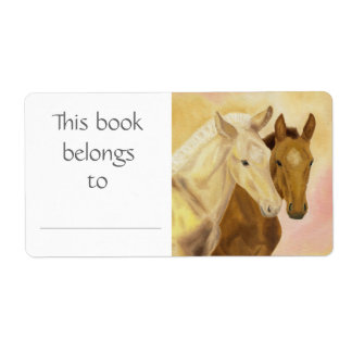 Two Horses book label Shipping Label