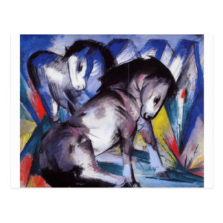 Two Horses by Franz Marc Postcard