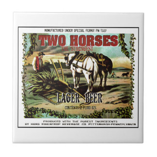 TWO HORSES IMAGINARY BEER TILE