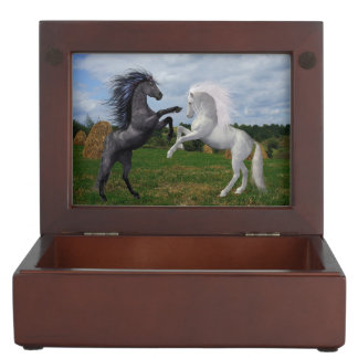 Two Horses Keepsake Box