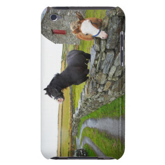 Two horses on farm in rural England Case-Mate iPod Touch Case