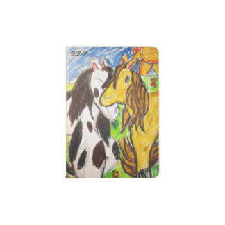 two horses passport holder