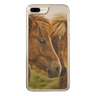 Two horses portrait carved iPhone 8 plus/7 plus case