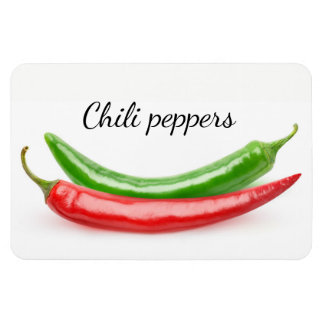 Two hot peppers magnet