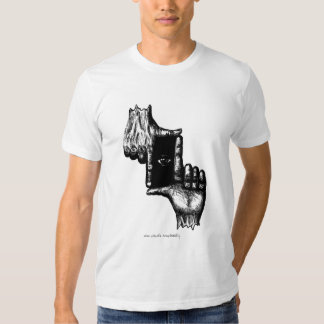 Two human hands and eye pen ink drawing art t shirts