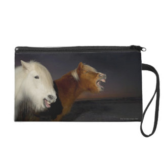 Two Icelandic horses Wristlet Clutch