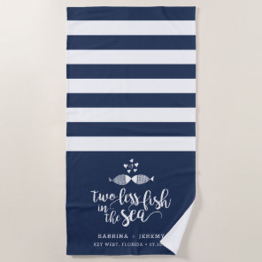 Two if By Sea Personalised Wedding Beach Towel