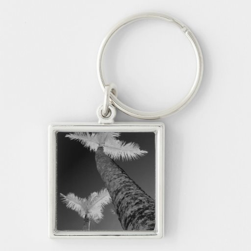 Two infrared palm trees. keychain