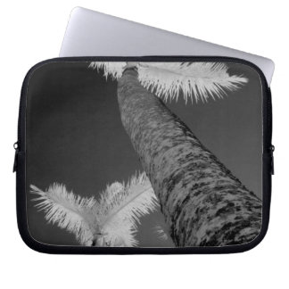 Two infrared palm trees. laptop sleeve