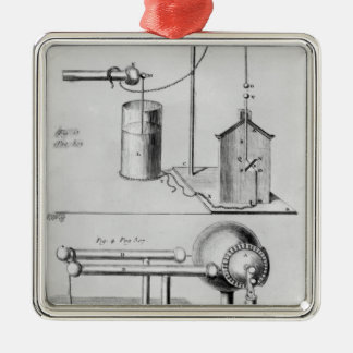 Two instruments to study electricity christmas ornament