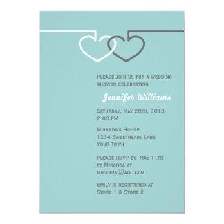 Two Interlocking Hearts 13 Cm X 18 Cm Invitation Card