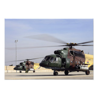 Two Iraqi Mi-17 Hip Helicopters Photo Print