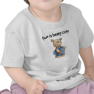 Two is Beary Cute 2 Year Old Boy T-shirts