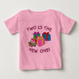 TWO IS THE NEW ONE PINK BABY T-Shirt