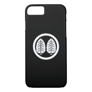 Two Japanese cedars in circle iPhone 7 Case