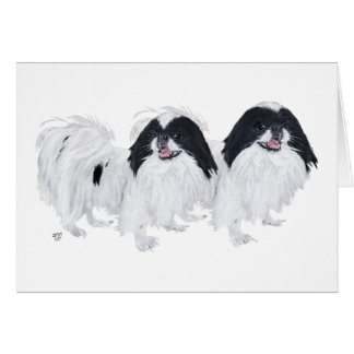 Two Japanese Chin Dogs Card