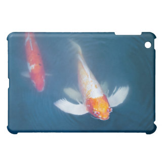 Two Japanese koi fish in pond iPad Mini Cover