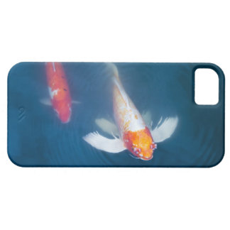 Two Japanese koi fish in pond iPhone 5 Cases