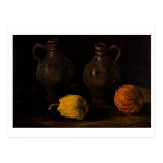 Two Jars and Two Pumpkins Van Gogh Fine Art Postcard