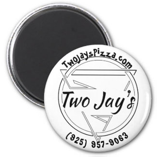 Two Jay's Pizza Pin Magnet