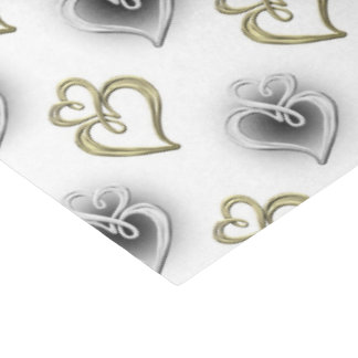 two jeweled hearts Wedding elegant party tissue Tissue Paper