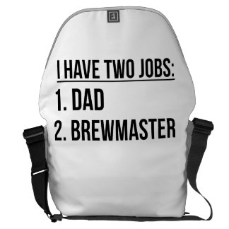 Two Jobs Dad And Brewmaster Courier Bag