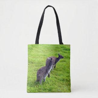 Two Kangaroos Full Print Shopping Bag. Tote Bag