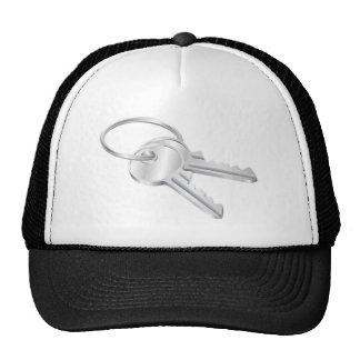 Two keys on a keyring illustration mesh hat