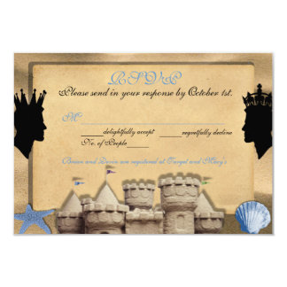 Two Kings Custom Gay Wedding RSVP Cards 9 Cm X 13 Cm Invitation Card