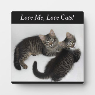 Two Kittens Love Me Love Cats Plaque