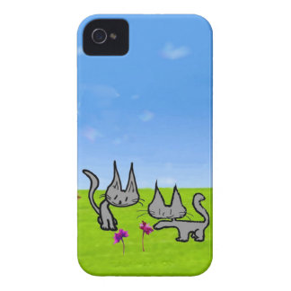 Two Kittens Loving The Summer iPhone 4 Covers