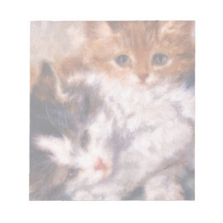 Two Kittens Snuggle by Henriëtte Ronner-Knip Notepad