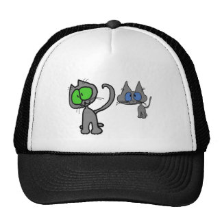 Two Kittys Are Best Friends Mesh Hats