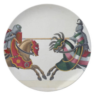 Two knights at a tournament, plate from 'A History
