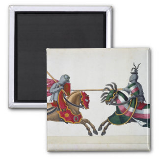 Two knights at a tournament, plate from 'A History Magnet