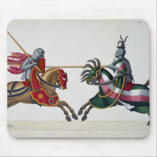 Two knights at a tournament, plate from 'A History Mouse Mat