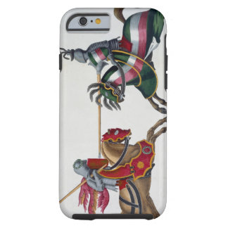 Two knights at a tournament, plate from 'A History Tough iPhone 6 Case