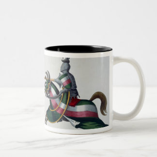 Two knights at a tournament, plate from 'A History Two-Tone Coffee Mug