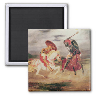 Two Knights Fighting in a Landscape, c.1824 Magnet