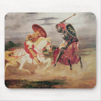 Two Knights Fighting in a Landscape, c.1824 Mouse Mat