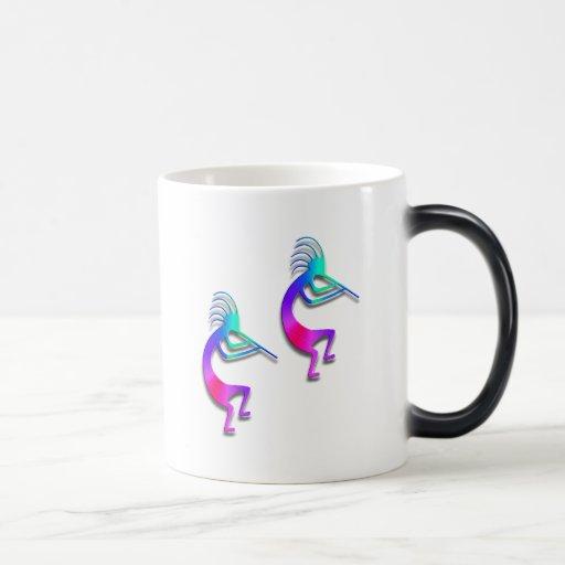 Two Kokopelli #103 11 Oz Magic Heat Color-Changing Coffee Mug