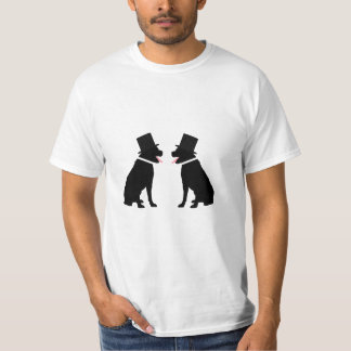 Two Labrador Retriever Dogs Gay Wedding Shirts