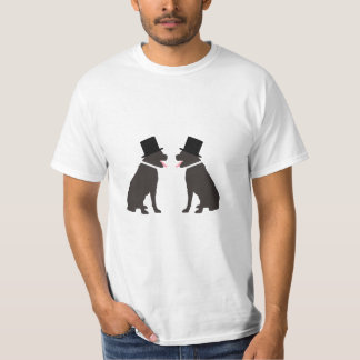 Two Labrador Retriever Dogs Gay Wedding Tee Shirt