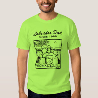 Two Labradors and Dad T Shirts