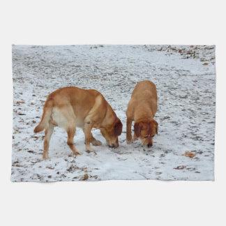 Two Labradors Tea Towel